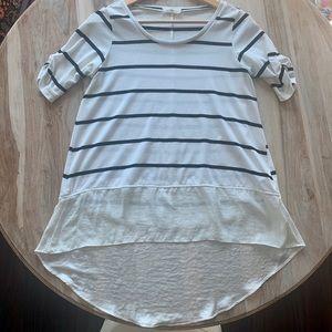 Anthropologie Lili's Closet Striped T Shirt
